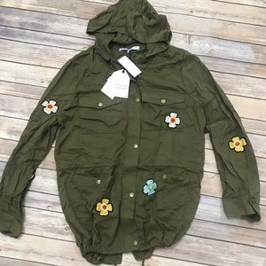 NWT English factory flower patches military jacket